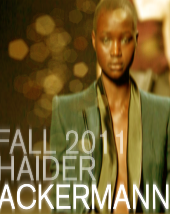 Couture Postcard: Haider Ackermann Fall 2011